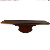 "Christmas Sale 30% off Vintage Home Interior 17 1/2"" Mahogany Wood Wall Shelf"