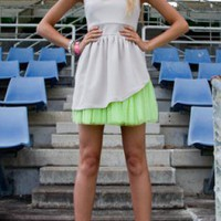 Lady Tutu Mini Dress - Stone