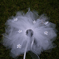 Custom Dog Rhinestone Flower Wedding Tutu