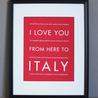 Italy Art Print, 8x10 on Luulla