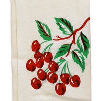 Cherry Disk Towel: Cherry Kitchen Decor with Retro Kitchen Towels RetroPlanet.com