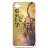 Amazon.com: Apple iPhone 4 4G 4S Hipster Dream Catcher Nebula Vintage Retro Print White Sides Case: Cell Phones & Accessories