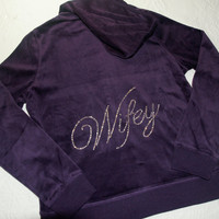 Bride Bridesmaid Velour Tracksuit Jacket and Pants. Maid of Honor, Just Married. Purple, Black, White, Blue, Pink. Bridal Party