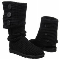 Women's UGG  Classic Cardy Black Shoes.com
