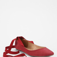 Urban Outfitters - Kimchi Blue Sweetheart Ankle Tie Skimmer