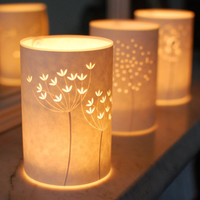 Set of three Seed Head Candle Lights