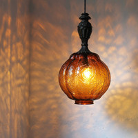 Amber Autumn Light  Hanging Pendant Lighting Fixture  by BootsNGus