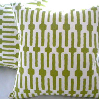 Designer pillow cover, Annie Selke Citrus home decor fabric, 20 x 20