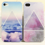 Scrub Blue/Pink Cloud Case for iPhone 4 4S from LOOBACK FASHION STORE