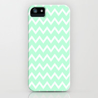 Mint Green Zigzag Stripes iPhone Case iPhone Case by productoslocos | Society6