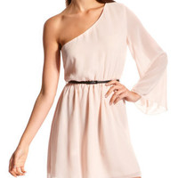 Charlotte Russe - Belted Chiffon Lullaby Dress