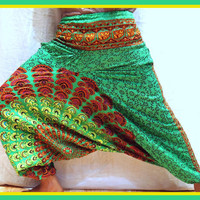 VINTAGE Harem Pants -Loose Genie Gypsy boho Alibaba Baggy festival Burning man Fisher man yoga Harem Pant Trouser Jumpsuit