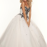 Paparazzi by Mori Lee 93053 Champagne Ball Gown