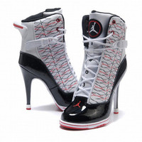 black red white nike dunks high heels for women