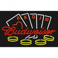 Neonetics Wall Lighting Budweiser Poker Neon Sign - budweiser-poker-neon-sign