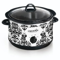 Amazon.com: Crock Pot SCR450-PT 4-1/2-Quart Slow Cooker, Black Demask Pattern: Kitchen & Dining