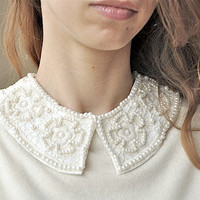 Ivory detachable collar necklace, bridal,peterpan necklace,trendy necklace,fashion neclace, free shipping