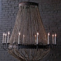 CBell - Furnishing Life - Lighting - Castle Rope Chandelier