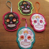 Day of the Dead Sugar Skull Ornaments