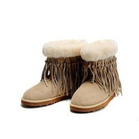 NEW Sand 5835 UGG Tassel Short Boots Outlet UK