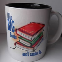 I like Big Books and I Cannot lie Coffee Mug for Book by Mugsleys