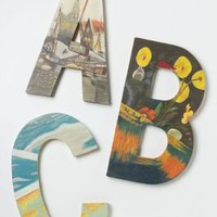 Handpainted Still Life Monogram  - Anthropologie.com