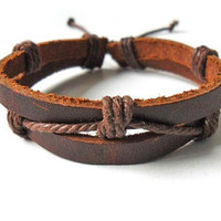 jewelry bangle bracelet  Cool rope Bracelet With Leather Woven bracelet 1SZ-LH-138