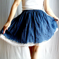 Blue circle skirt in tulle lace Size from XS to XL by AliceCloset