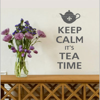 VINYL Keep Calm It's TEA TIME Decal Wall Art by KeepCalmShoppe