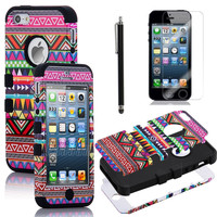 For iPhone 5 Tribal Hybr...