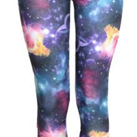 Amazon.com: Vip Boutique Galaxy Print Leggings: Clothing