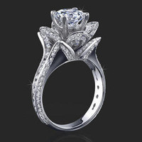 Engagement Rings -  1.25 ctw. 14K Gold Diamond Engagement Ring
