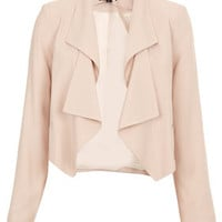 Folded Lapel Crop Jacket