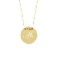 Personalize Disc Necklace