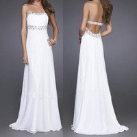 Elegant White Strapless ...