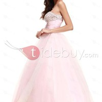 Brilliant A-Line Strapless Floor-Length Empire Waistline Taline's Ball Gown/Prom Dress[US2] from tidebuy