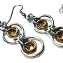 Stacie - Double Mobius Chainmaille Earrings (Jewelers Brass)