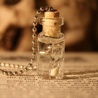 Glass Vial Necklace:Time in a Vial