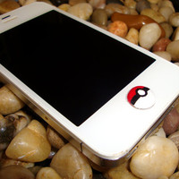 Pokemon Pokeball Iphone Home Button Accessory by Lucky2BPlaneJane