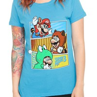 Nintendo Super Mario Bros. 3 Suits Girls T-Shirt - 145766