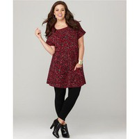 Style&co. Plus Size Sweater, Short Sleeve Marled Cabled Tunic - Plus Sizes - Sale - Macy's