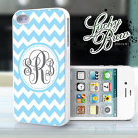 Personalized iPhone 4 4s Hard Case  Chevron by LuckybrewDesigns