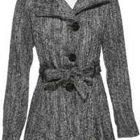 Amazon.com: STEVE MADDEN Belted Wool-Blend Coat [OLA307H]: Clothing