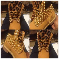 Spiked & Leopard Timberlands( Adults Sizes 6.5 and Up) from Bscllybangin12