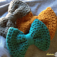 Chevrons and Anchors | Crochet Hair Bows | Online Store Powered by Storenvy