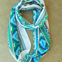Dreamcatcher Infinity Scarf in Indigo [3637] - $21.00 : Vintage Inspired Clothing & Affordable Fall Frocks, deloom | Modern. Vintage. Crafted.