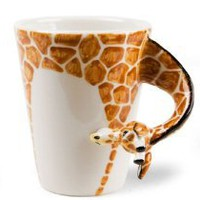 Giraffe Handmade Coffee Mug (10cm x 8cm):Amazon:Home &amp; Kitchen