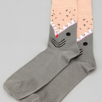 Shark Sock- Grey One