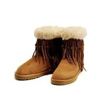 NEW Chestnut 5835 UGG Tassel Short Boots Outlet UK