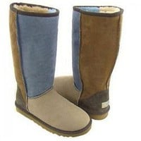 UGG Classic Tall 5815 Blue Patchwork Outlet UK